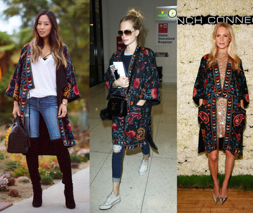 aimee-song-poppy-delevingne-french-connection-embroidered-kimono